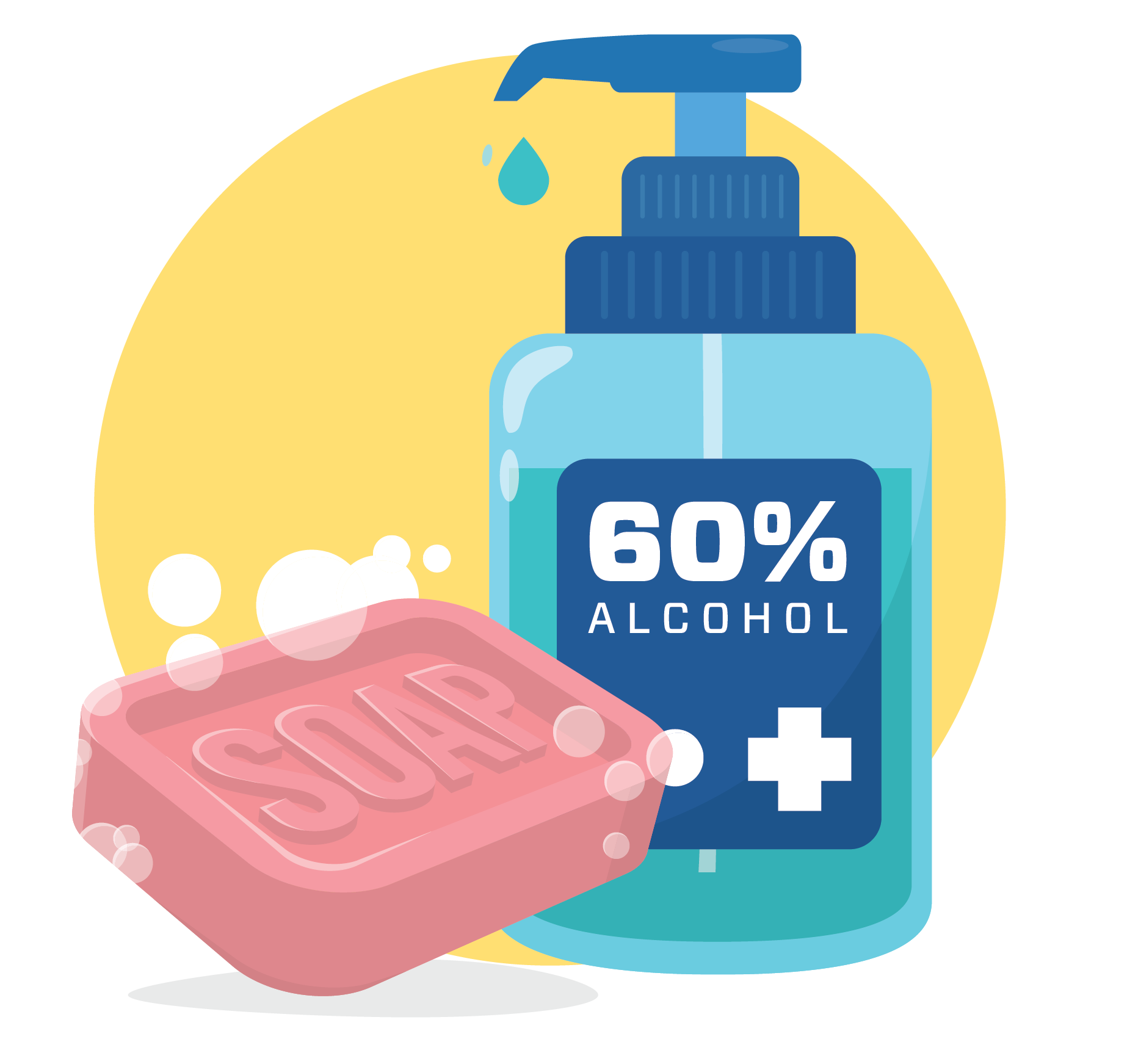 Use sanitizer with at least 60% alcohol