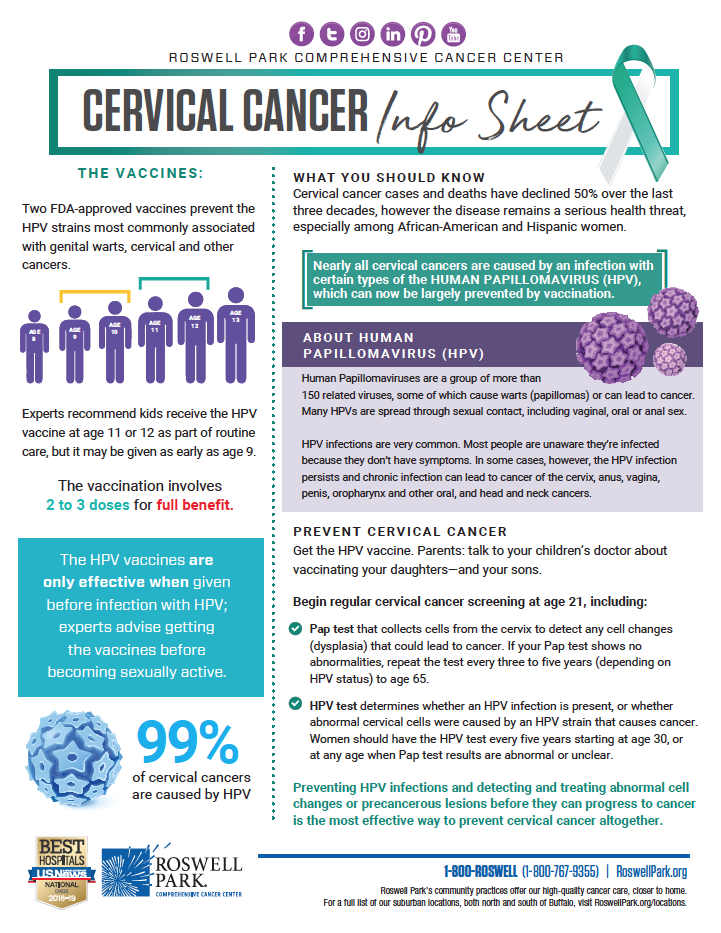 What is Cervical Cancer? | Roswell Park Comprehensive Cancer Center