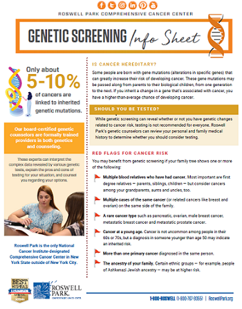 Hereditary Cancer Screening What We Know Now Roswell Park Comprehensive Cancer Center