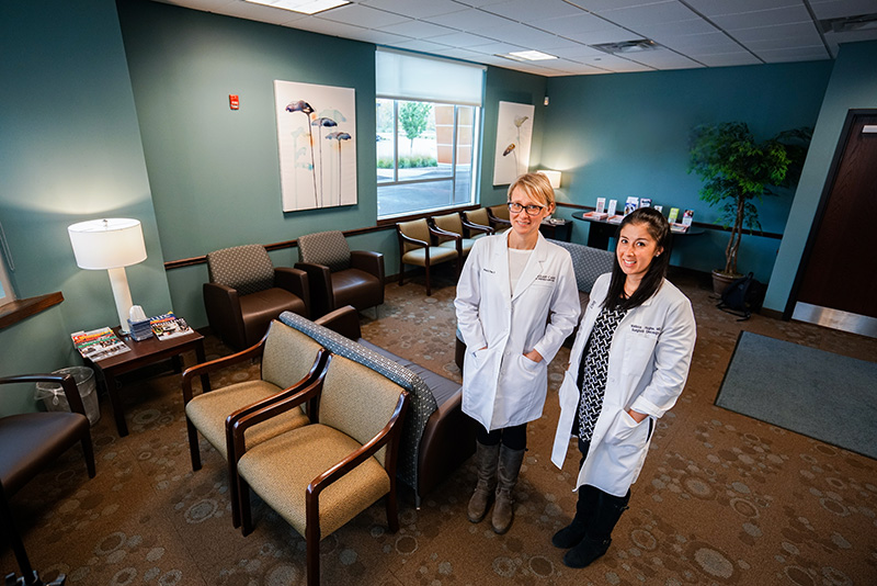 Drs Poss and Hughes in Breast Care of WNY Clinic