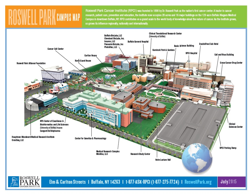 Main Campus Map Roswell Park Comprehensive Cancer Center