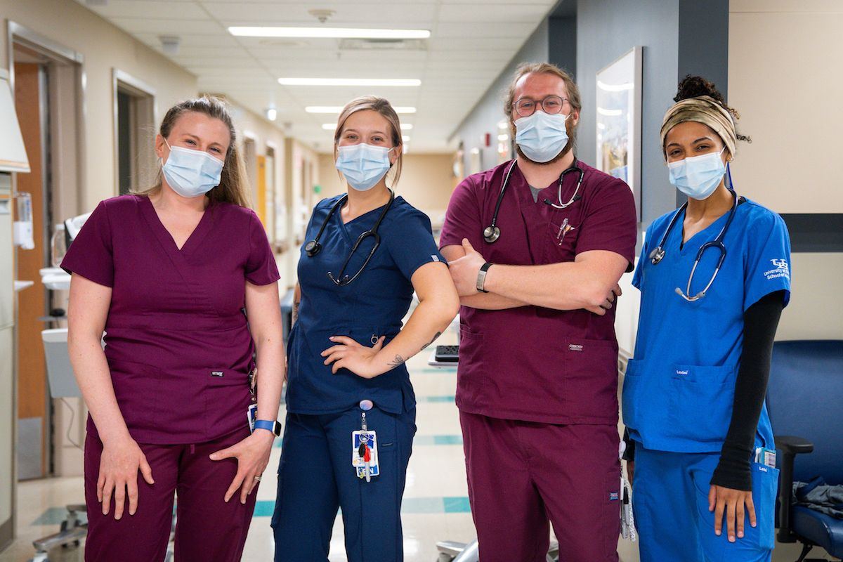 Photo of four Roswell Park nurses