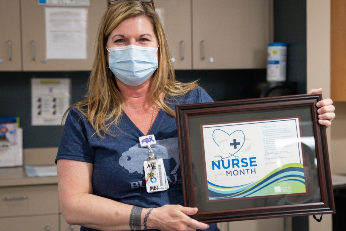 Mel Lenz is Roswell Park's Nurse of the Month for May.