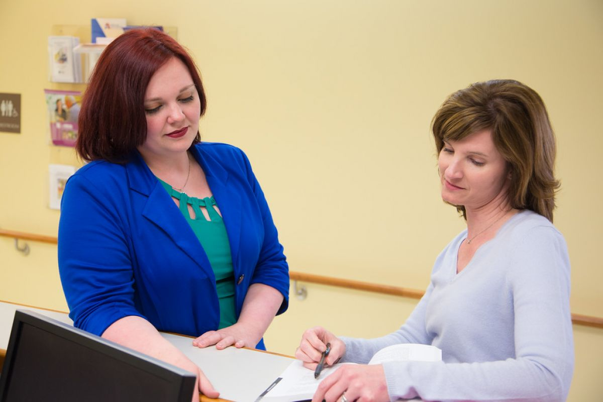 Sabrina Miller assists patients in Roswell Park's Lung Cancer Screening Program.