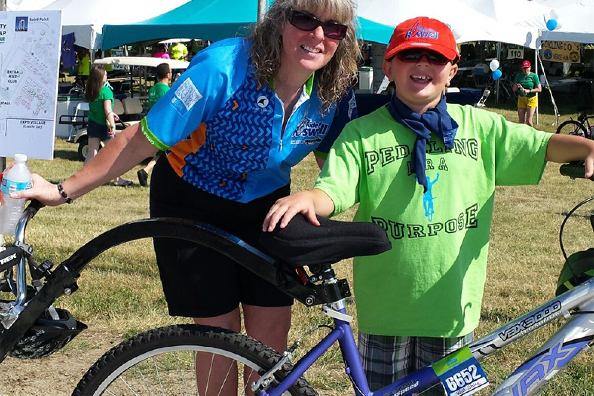 Will and Jenifer Shine at The Ride for Roswell