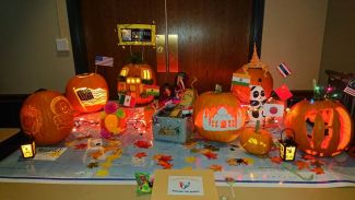Post-docs Take First Place in 2019 Pumpkin Carving Contest
