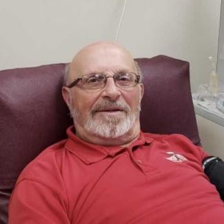 Richard Casseri at the Donor Center