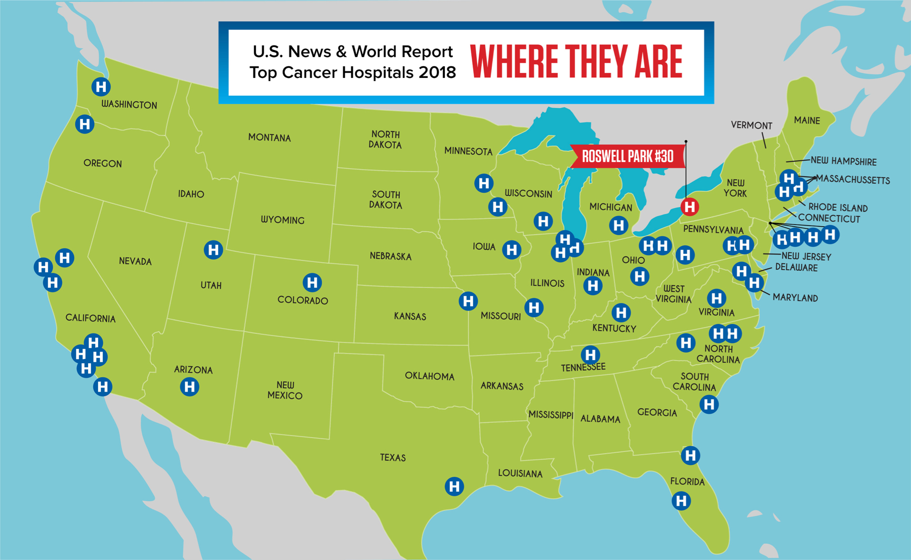 Map Of California Hospitals.Roswell Park Among Top 3 Percent Of Cancer Hospitals Nationwide